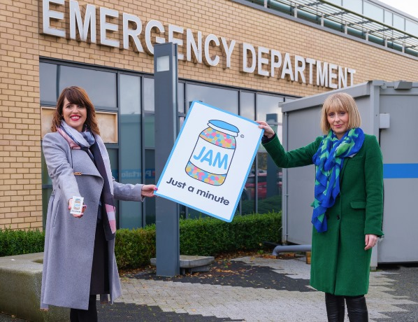 NOW Group and NHSCT Staff rep with Jam Card